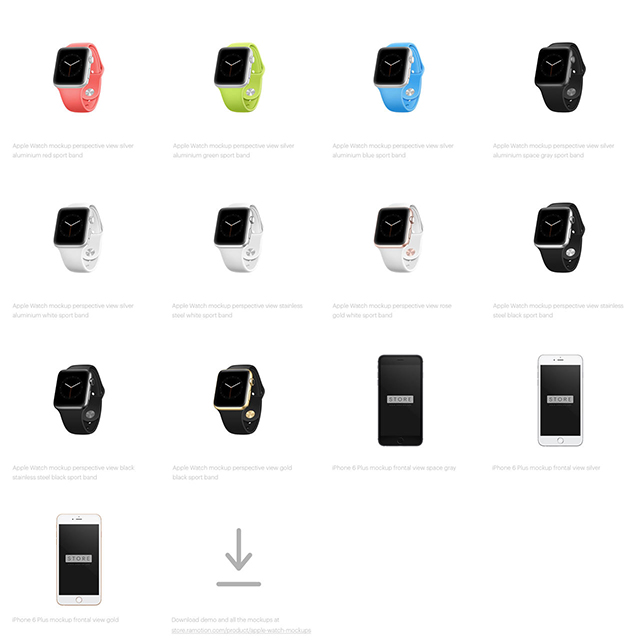 apple watch and iphone mockups
