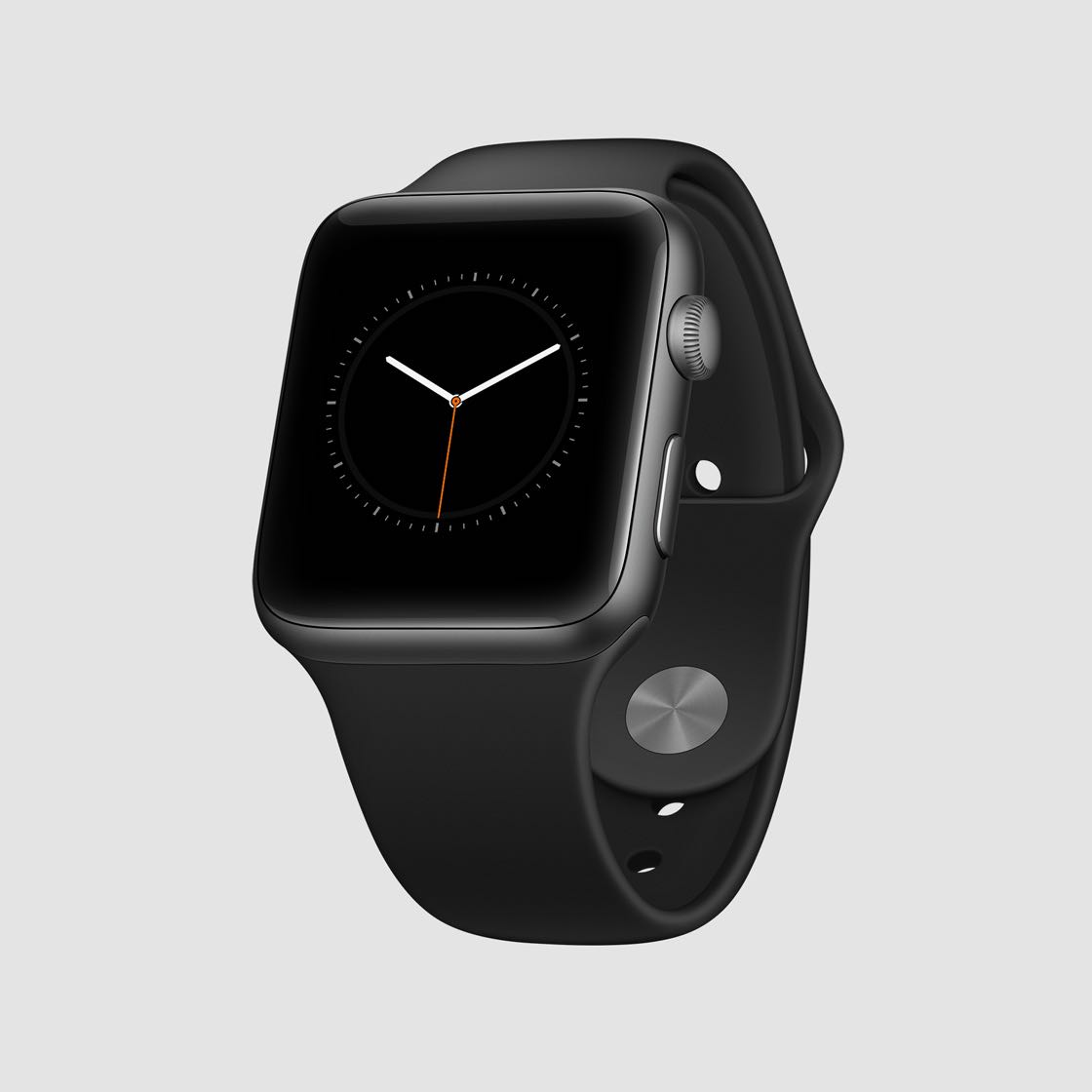 perspective black apple watch mockup