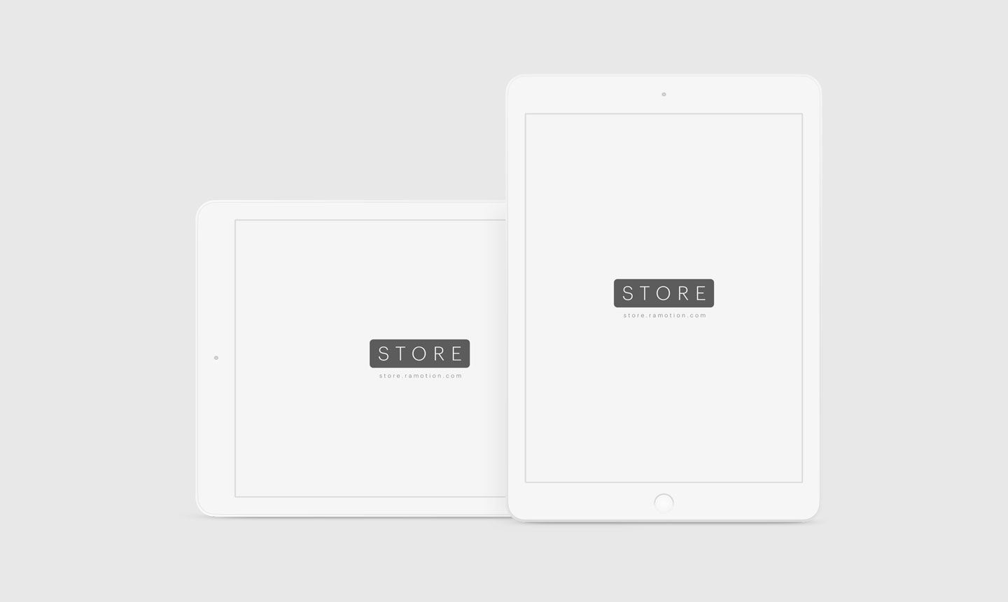 ipad clay white frontal mockups top psd