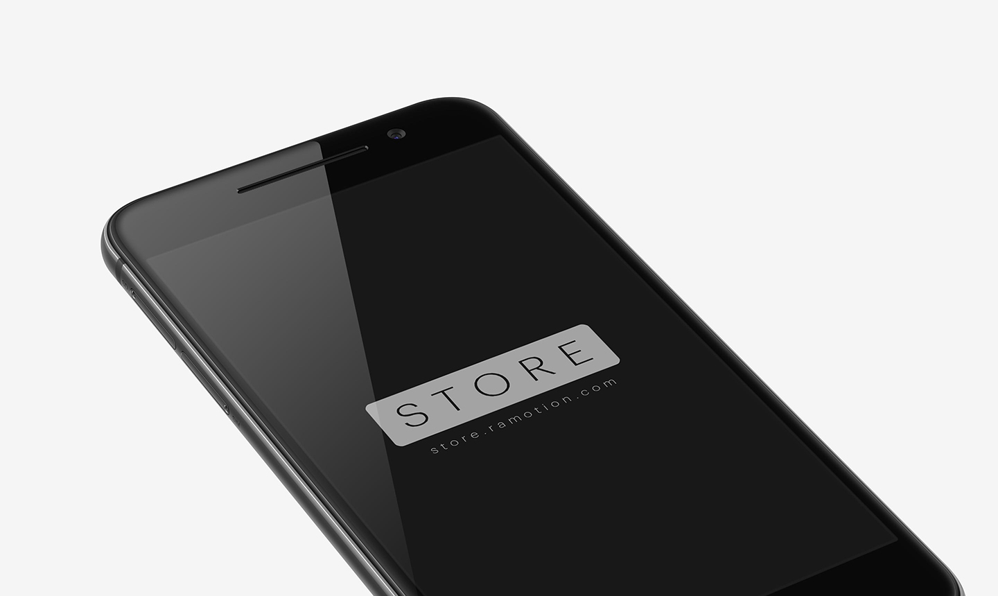 perspective black htc one a9 mockup