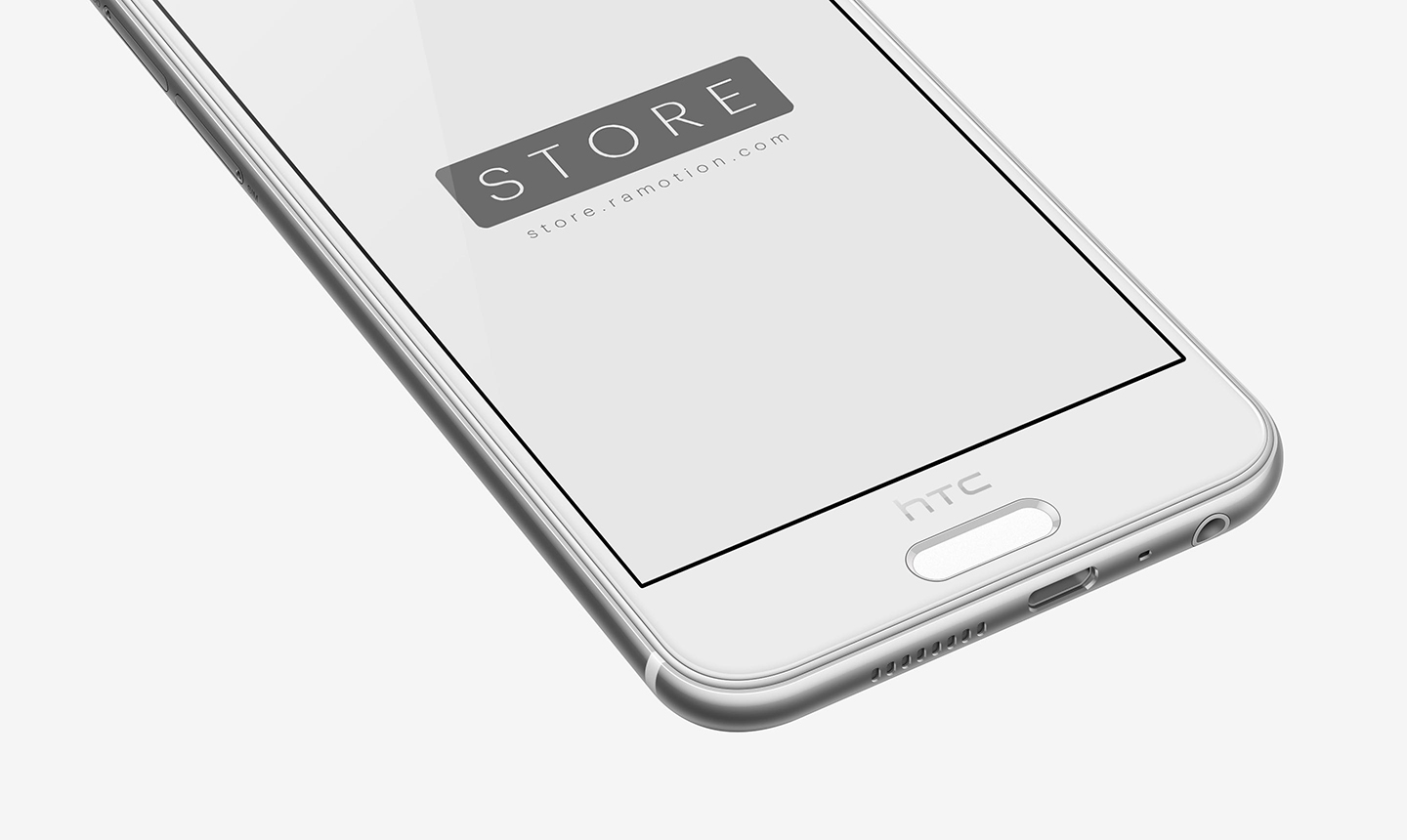 perspective white htc one a9 mockup