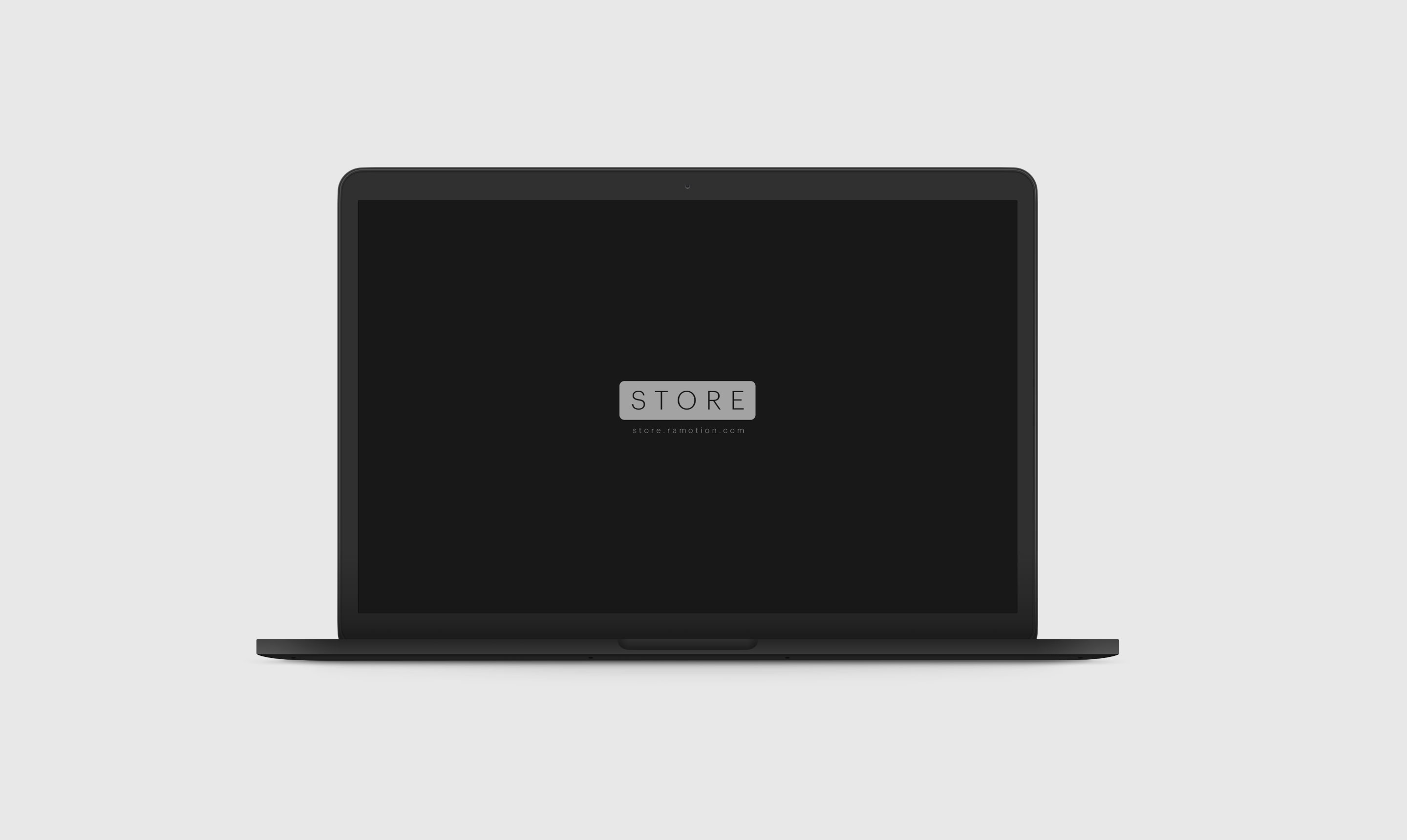 frontal black macbook Clay psd mockup