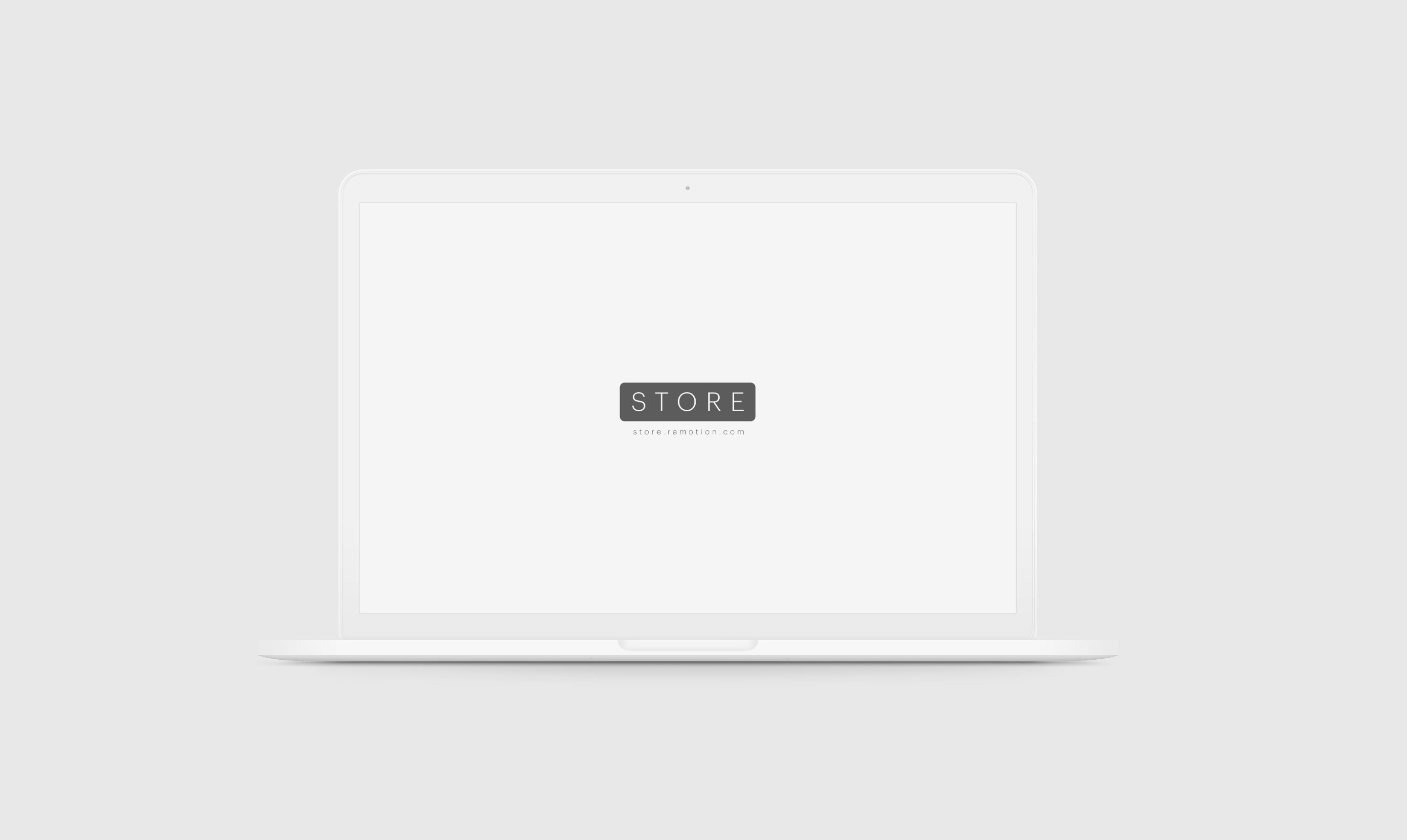 frontal white clay macbook psd mockup