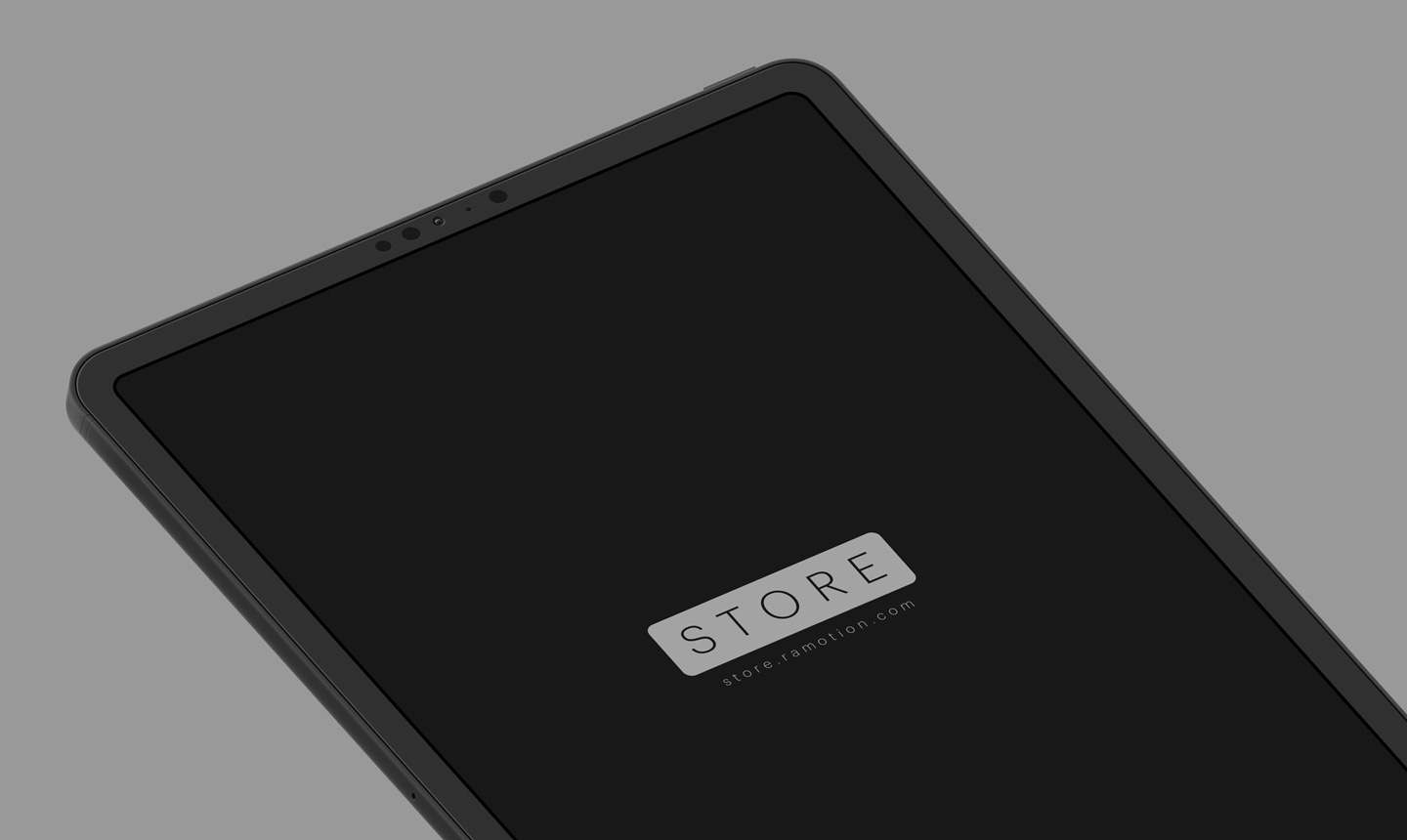 iPad Pro clay isometric black mockup