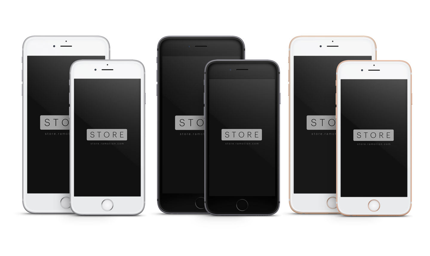 iphone 6 plus silver space gray gold psd