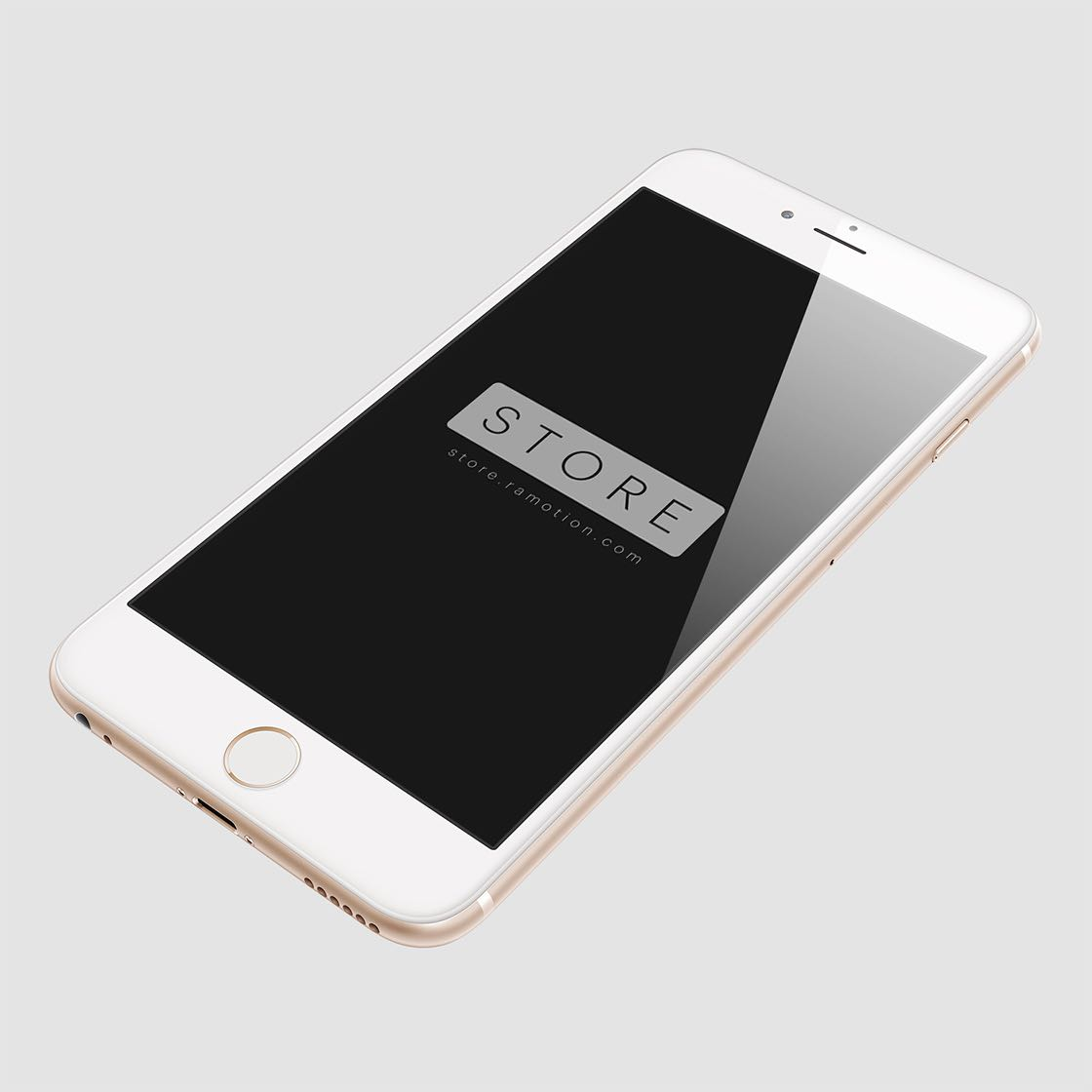 perspective gold iphone 6 plus mockup