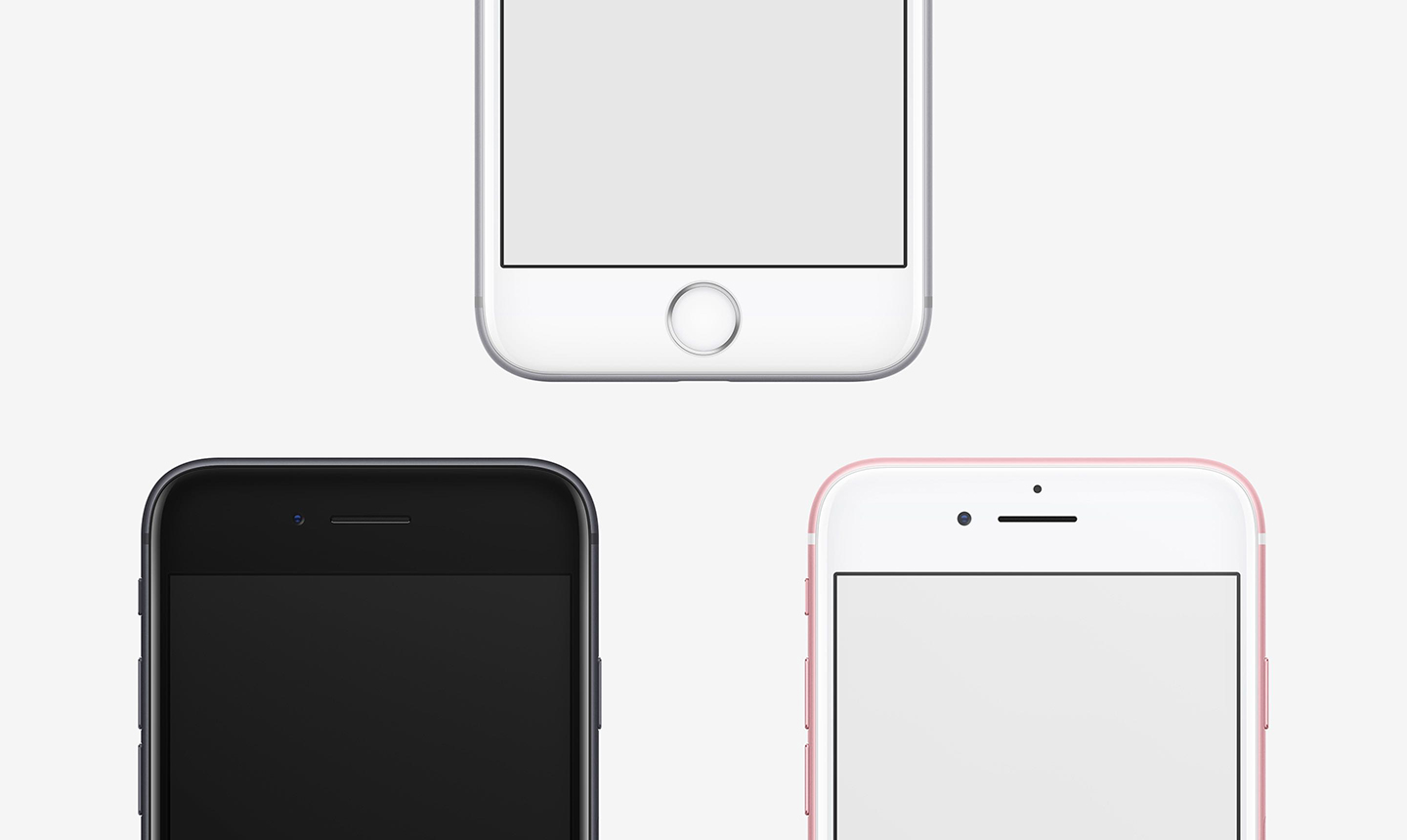 frontal iphone 7 mockups