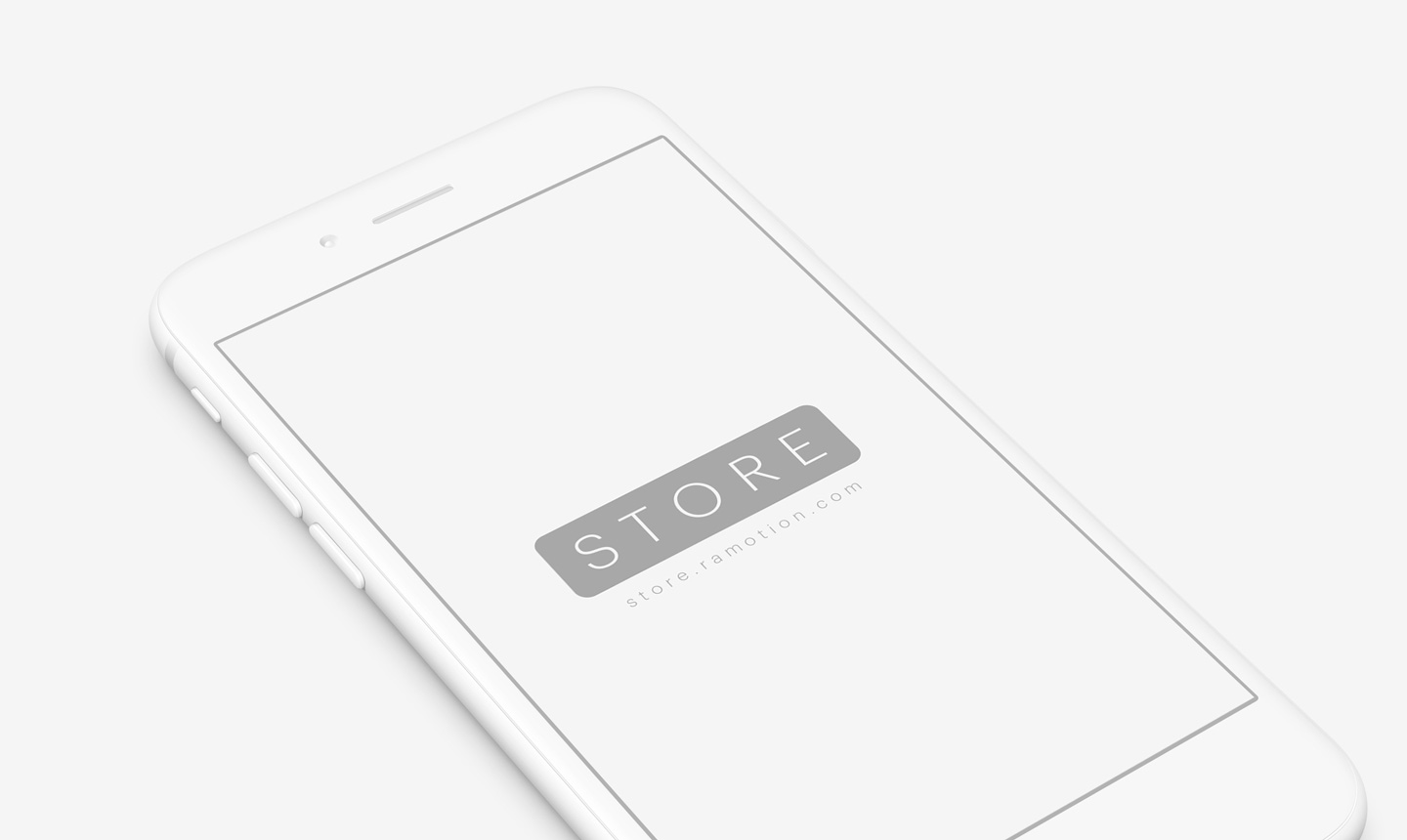perspective white iphone clay mockup