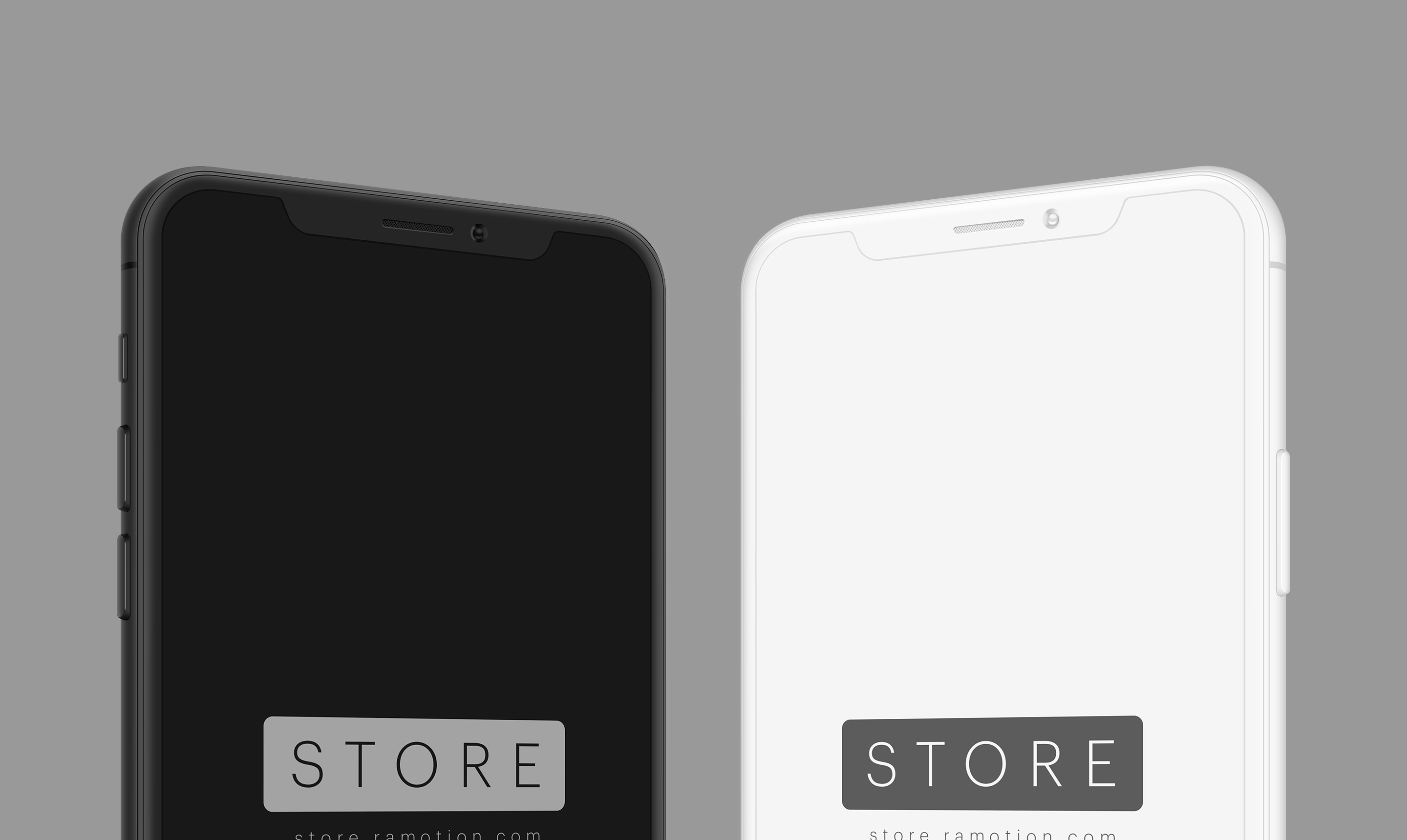 black frontal iphone X clay mockup