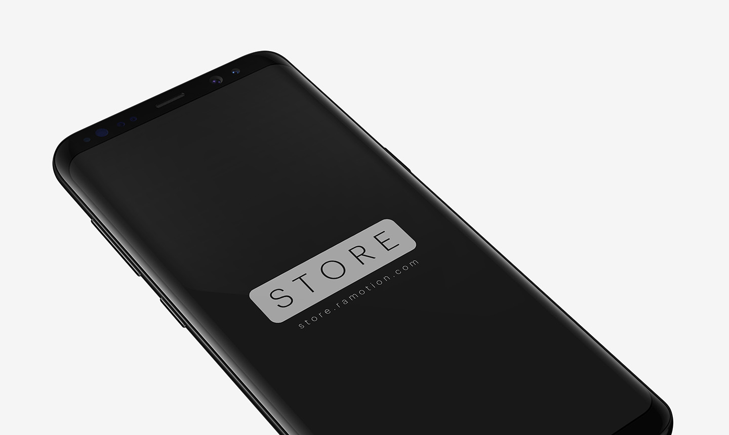 samsung galaxy s8 black perspective bottom psd
