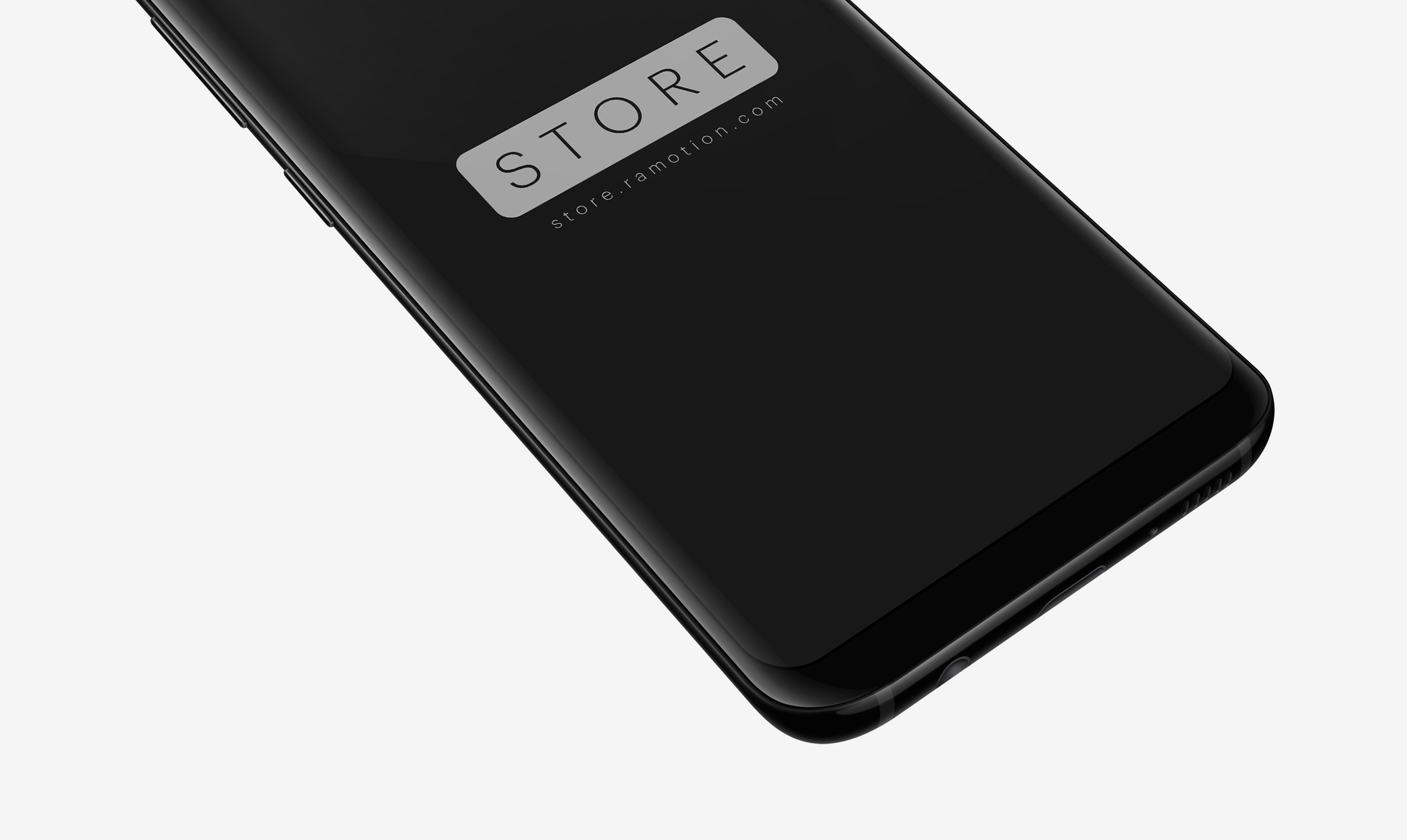 samsung galaxy s8 black perspective top psd