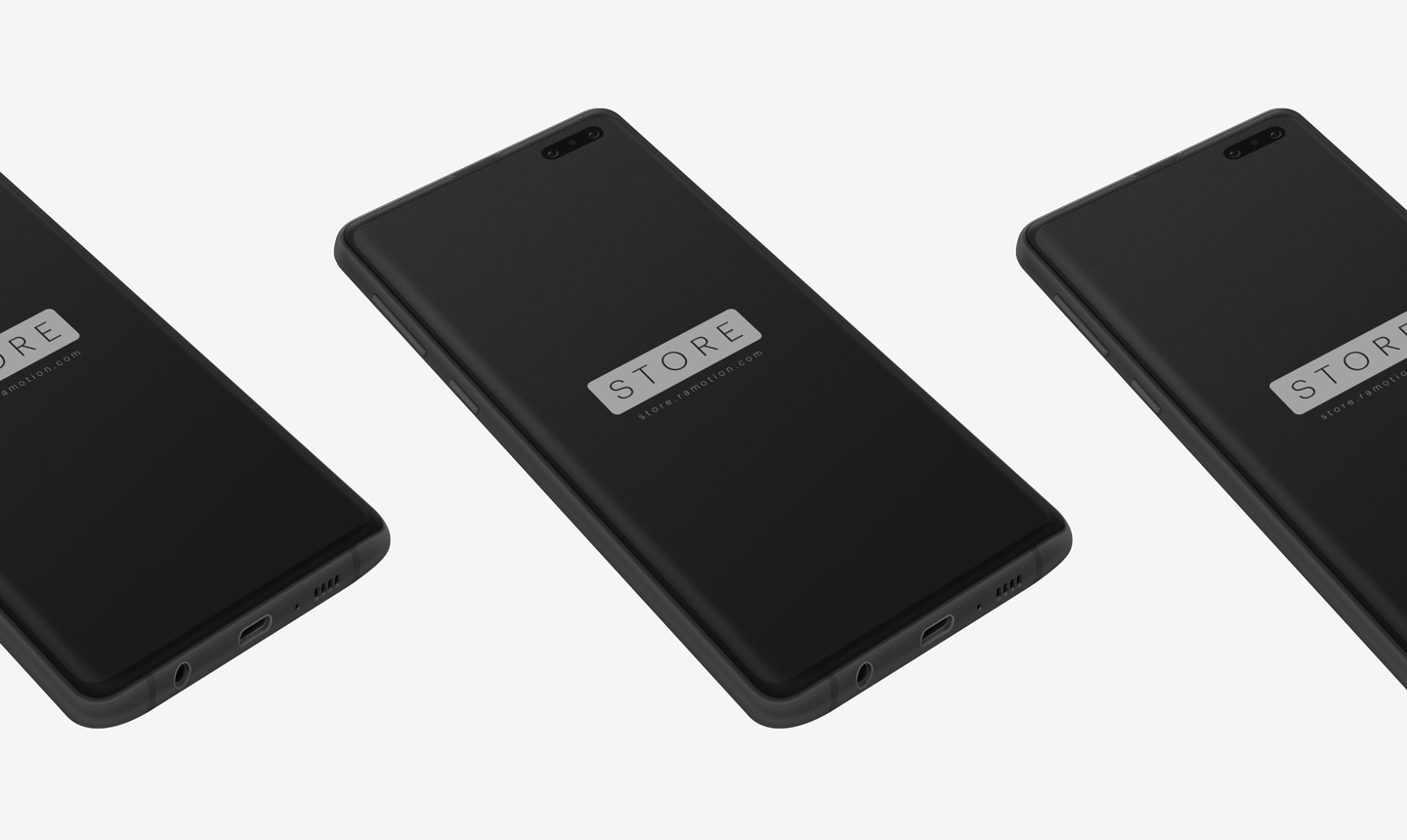 samsung s10 galaxy clay black perspective psd