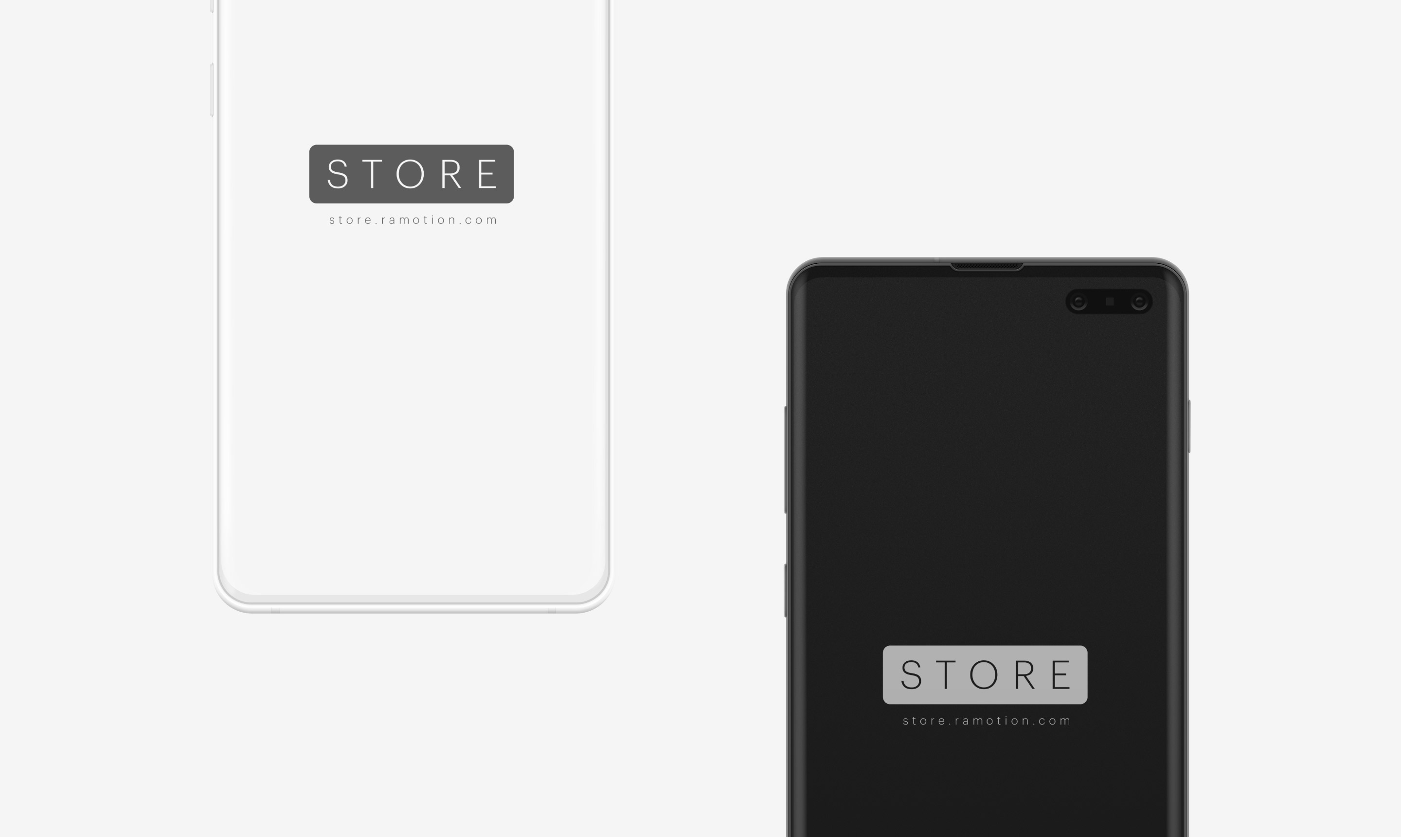 samsung s10 galaxy clay black white frontal psd