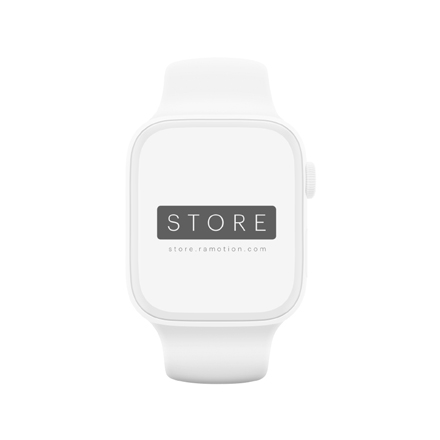 apple watch mockup clay frontal white