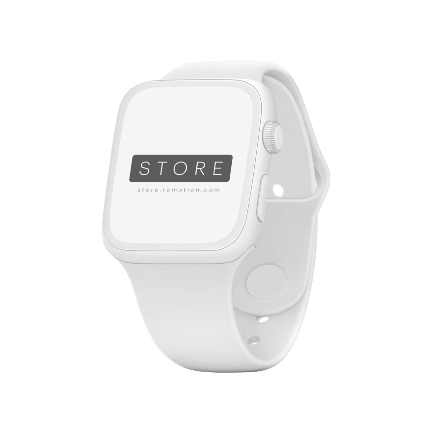 apple watch mockup clay angled white