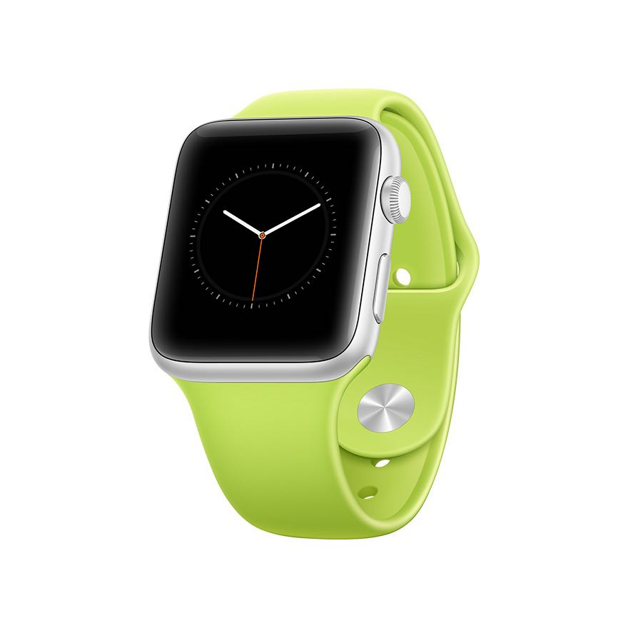 apple watch mockup perspective green