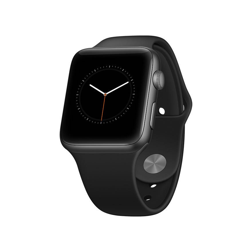apple watch mockup perspective black