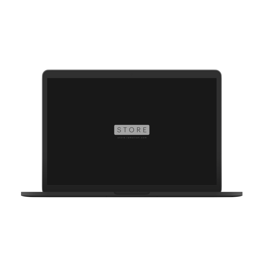 macbook mockup frontal black clay