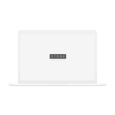 macbook mockup frontal white clay