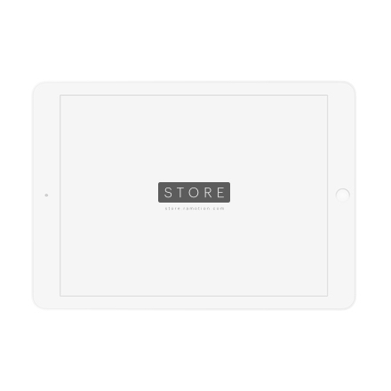 landscape white ipad clay mockup