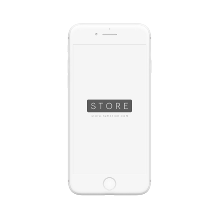 iphone 8 mockup clay frontal white