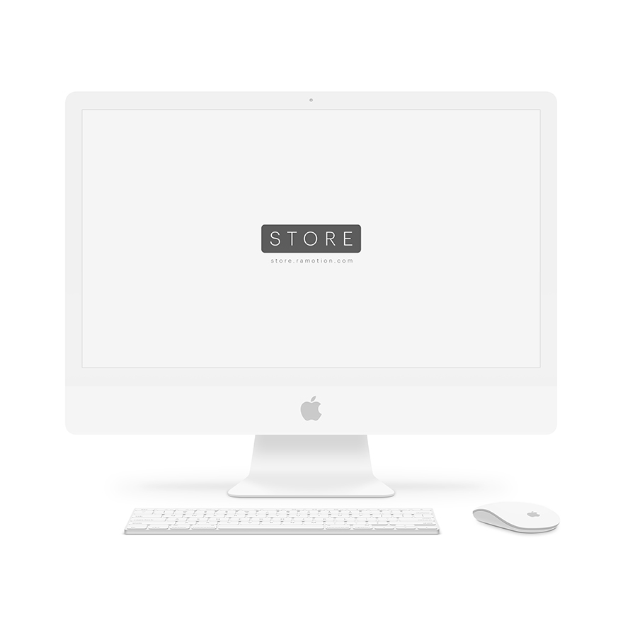 iMac Clay mockup frontal white