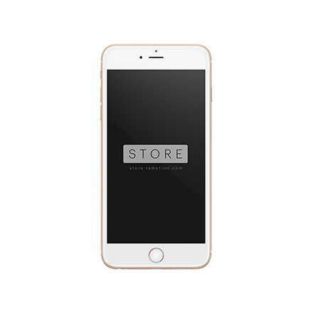iphone 6 plus mockup frontal gold