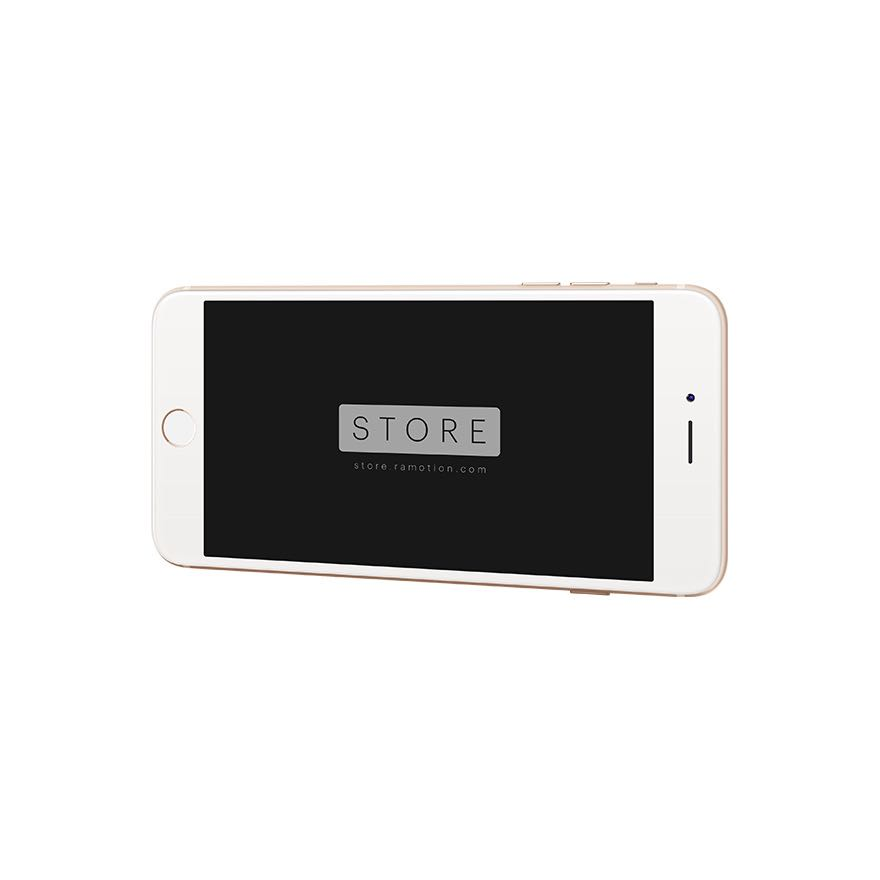 iphone 6 plus mockup horizontal gold