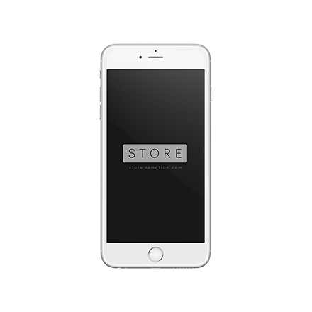 iphone 6 plus mockup frontal white