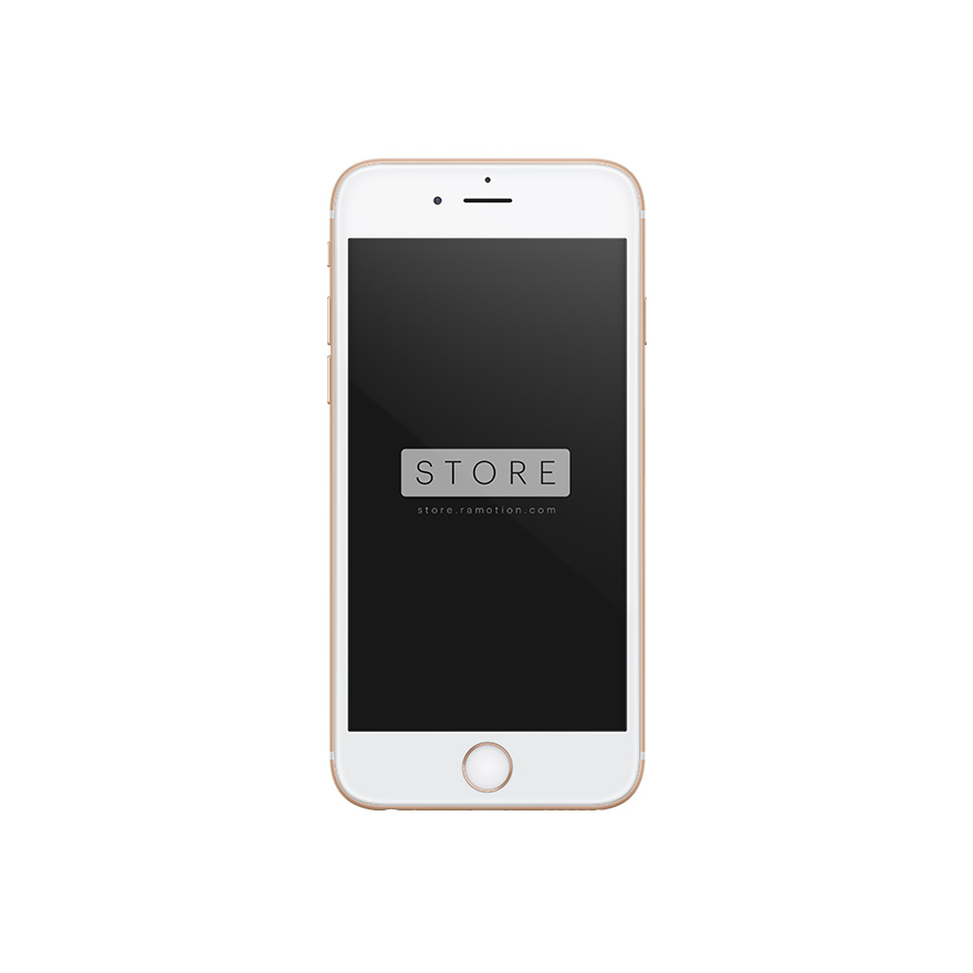 iphone 6 mockup frontal gold