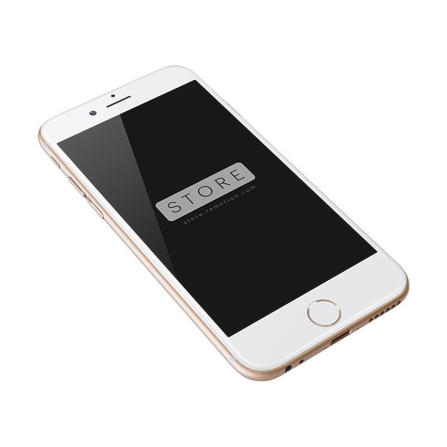 iphone 6 mockup perspective gold