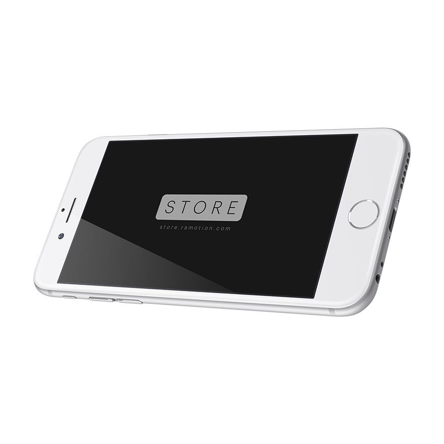 iphone 6 mockup landscape white