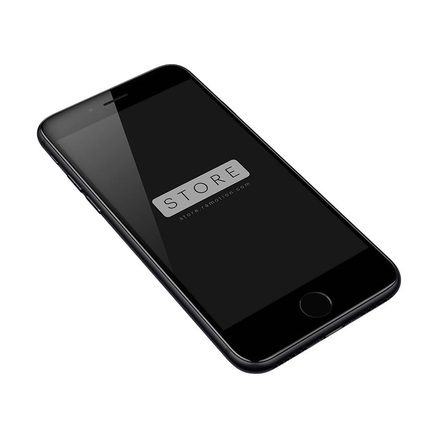iphone 7 mockup perspective black