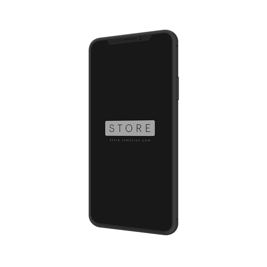 iphone x mockup clay portrait right black