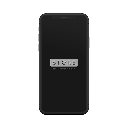 iphone x mockup frontal black clay