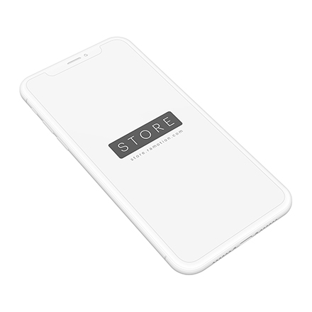 iphone x mockup clay perspective white