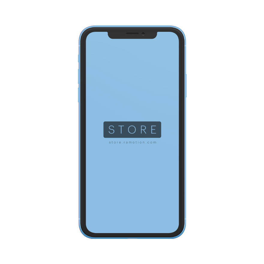 iphone xr mockup clay frontal Blue