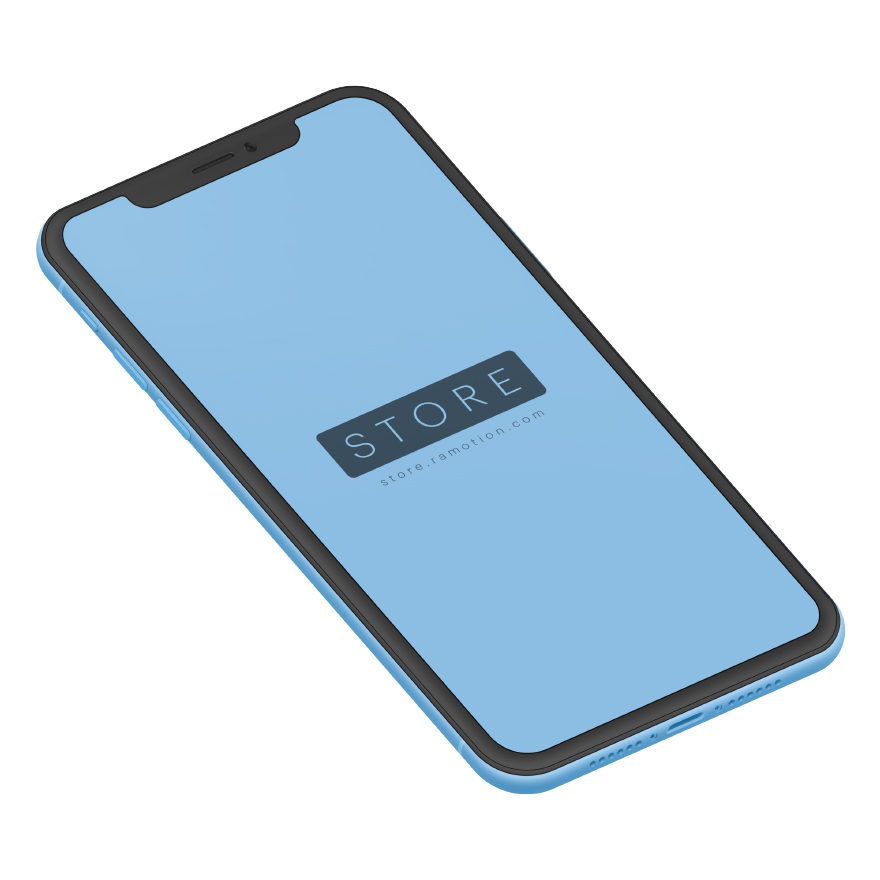 iphone xr mockup clay Isometric Blue