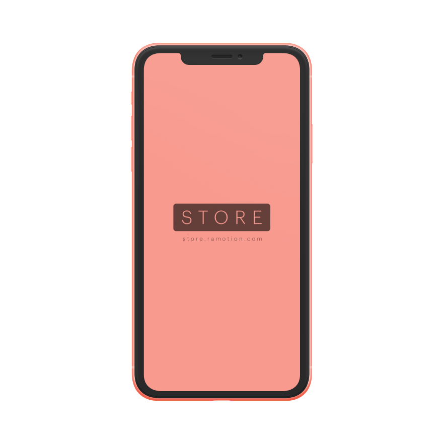 iphone xr mockup frontal Coral clay