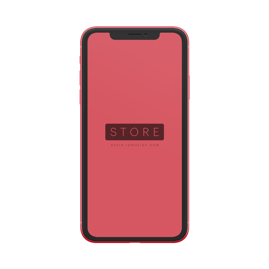 iphone xr mockup clay frontal Red