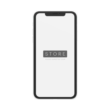 iphone xr mockup clay frontal white