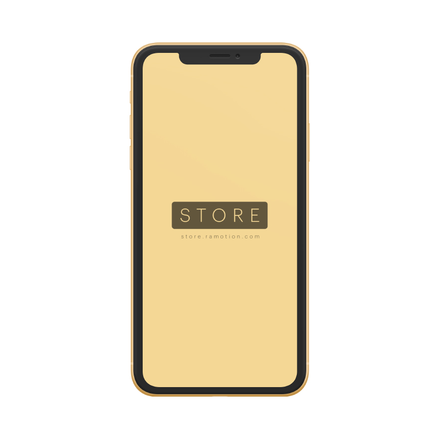 iphone xr mockup clay frontal Yellow