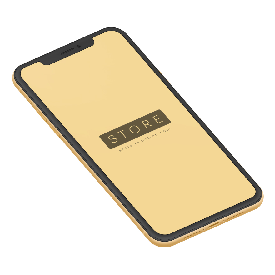 iphone xr mockup clay Isometric Yellow