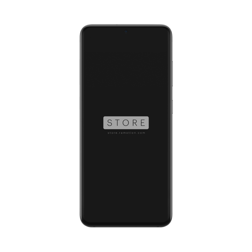 samsung galaxy s10 mockup clay white perspective