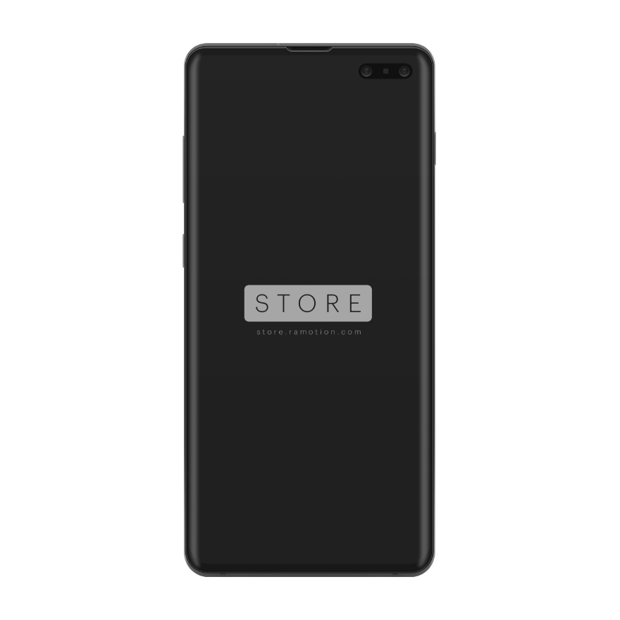 samsung galaxy s10 mockup clay black frontal